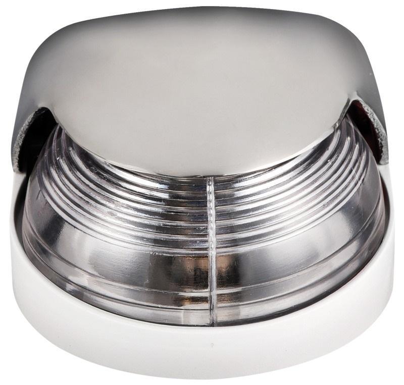 Luz de cubierta Tope Osculati, 225 ° Blanca, Inox AISI 316  - Luces de navegación 12 Voltios, para embarcaciones de eslora inferior a 12 m.   Alcance 2 millas..   Potencia : 8 W.