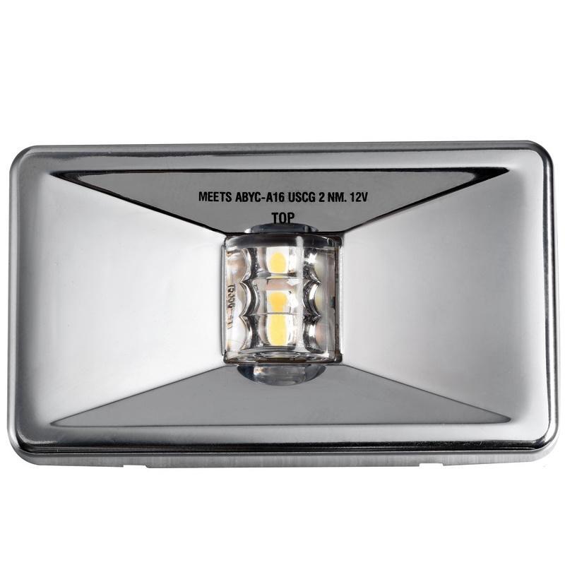 Luz LED de Popa Rectangular Mouse Inox, para embarcaciones menores de 20 m