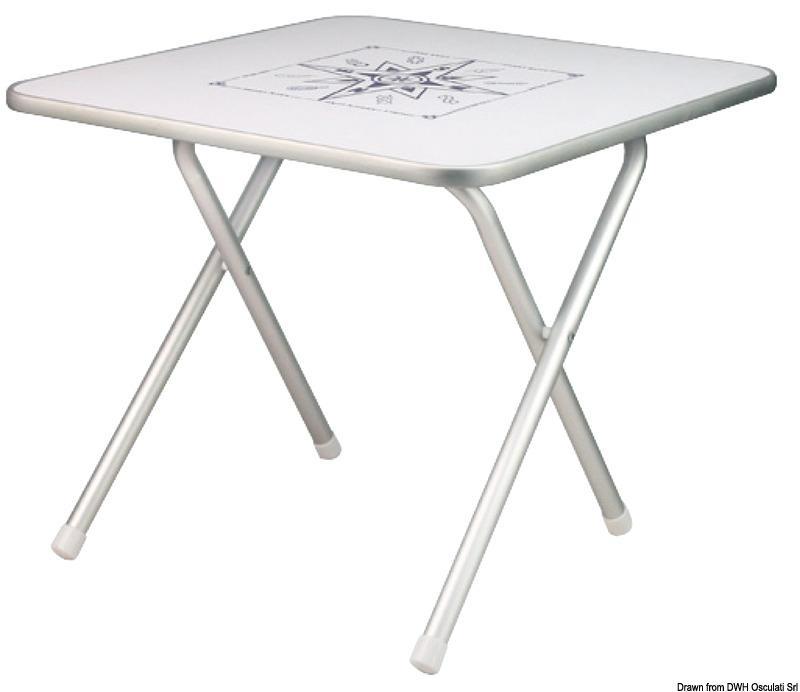 Mesa de cubierta plegable rectangular pequeña 60x40cm Altura 51cm