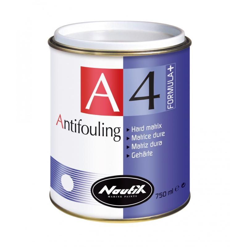 Nautix A4 Formula+, Antifouling de matriz dura de alto rendimiento - Nautix A4 Formula+ es un antifouling de matriz dura de alto rendimiento para los veleros, los barcos de pesca-paseo, las lanchas motoras, y los barcos de encallamiento o en remolques.