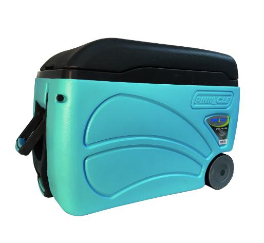 Nevera portátil Alta calidad Pinnacle 45 Litros Color Azul con Ruedas