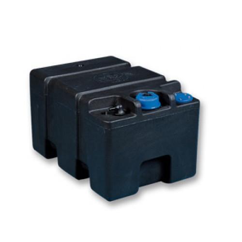Deposito de Combustible Ercole 40 con tapa de cierre - Depósito de combustible modelo Ercole, con tapa de cierre y capacidad de 41. Compatible con aforador de 250mm