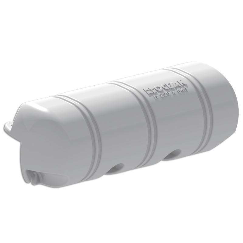 Defensa de pantalan Ocean tipo Bumper 3/4 - 220x640 mm - La defensa inflable Ocean Dock es la solución más conveniente cuando se trata de paragolpes, proporcionando una protección excepcional para el muelle y el barco. Dimensiones: Ø 220 x 640 mm