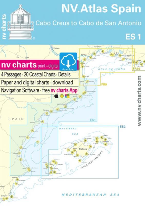 NV Charts Atlas España ES1 - Cabo San Antonio a Cabo Creus