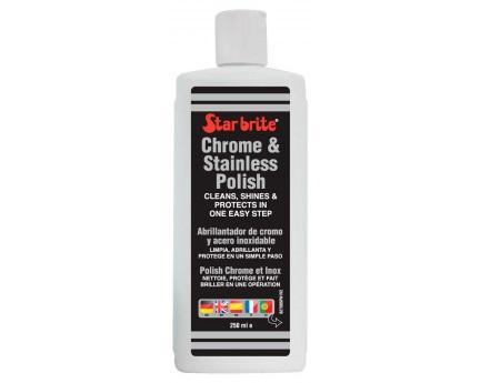 Pulimento para cromados e inox Star Brite 0,250 L - Especialmente indicado para superficies cromadas y de acero inoxidable.