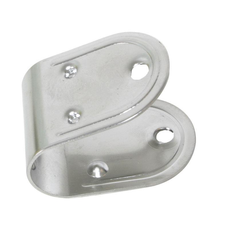 Placa de agujero para Escalera o Plataforma de Baño, Diam 25mm - Anclaje Inox para soporte de escalera o plataforma de baño. Para tubo de 25 mm de diámetro.   Precio por unidad.