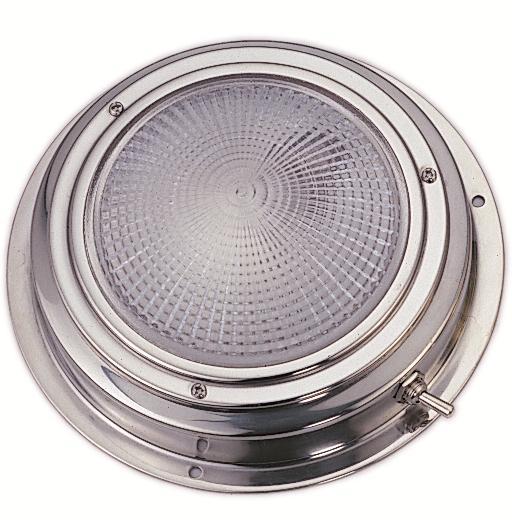 Plafon Inox con interruptor - Plafón con interruptor, fabricado en acero inoxidable, de gran luminosidad.   Diámetro base: 110, 140 o 170mm