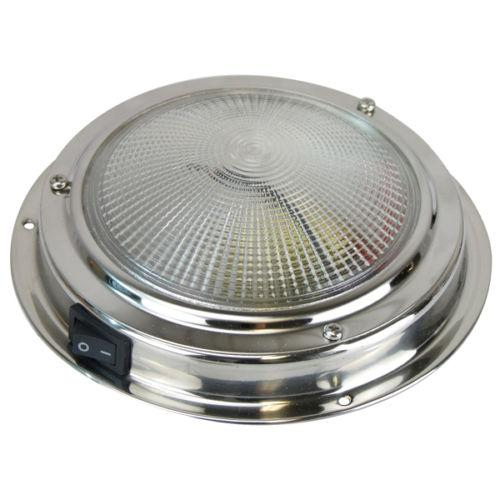Plafon interior INOX LED con interruptor - Plafón Led con interruptor, Fabricado en acero inoxidable..   Diámetro base: De 110 o 137 mm.