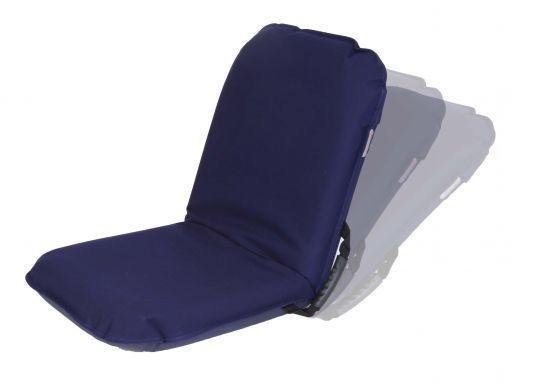 Asiento plegable regulable Comfort Seat - Asiento plegable fabricado en poliester y acrílico de gran resistencia. Diseñado con una astuta estructura de aluminio que permite dejar el respaldo en una posición fija.