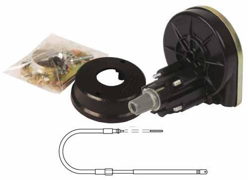Conjunto de dirección Teleflex Light Duty C-230 - Recomendada para pequeñas y medianas embarcaciónes con un motor máximo de 85HP de dos tiempos y 53HP de cuatro tiempos.