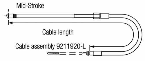 Cable Direccion Mecanica Teleflex SSC-1300 / C-230 - Reemplaza los cables Morse C-230, los TX 805, los Ultraflex M58 y los SSC-131 de la compact-T.