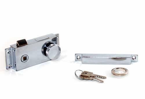 Cerradura para Puerta con Pestillo y Llave