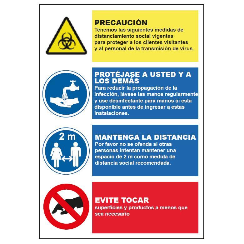 Panel Glasspack - Normas a seguir para evitar contagios