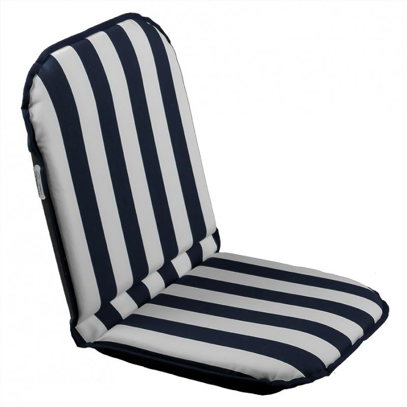 Asiento plegable regulable Comfort Seat Sunbrella Azul-Blanco