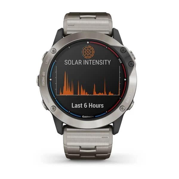 Garmin quatix 6 SOLAR Titanio con correa de titanio