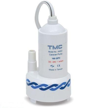 Bomba Sumergible TMC 04302 160gph 2,5 amp. 12V - Bomba sumergible 12V. de alta calidad, potente y silenciosa, para vehículos de viaje tipo caravana. Fácil de instalar.