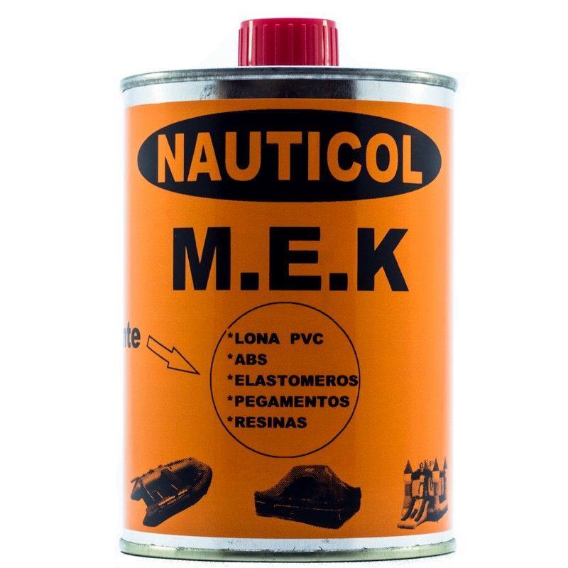 M.E.K Disolvente Nauticol para tejidos de PVC - Nauticol MEK es un disolvente líquido orgánico volátil empleado como diluyente para adhesivos de poliuretano, resinas epoxi, pinturas y como disolvente de limpieza para tejidos de PVC, utensilios y accesorios.