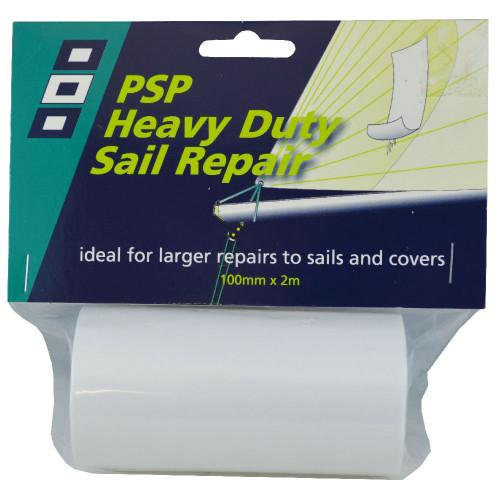 Cinta PSP Heavy Duty para Reparción de Velas 100mm x 2m - Cinta Heavy Duty Sail Repair 100mm x 2m Color Blanca.