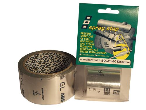 Spray Stop PSP - Cinta anti fugas - Cinta adhesiva para reparar fugas de liquidos o gases. Servido en 2 Rollos de 25 mm x 1 m.
