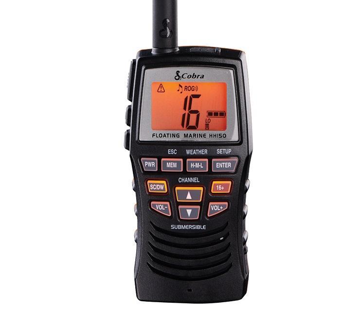 Radiotelefono VHF marino portatil Cobra MR HH150 FLT - La nueva Cobra Marine VHF Radio Float HH150FLT es para los entusiastas del agua. Esta radio de mano flotante es de todo menos básica. Diseñada para mejorar la experiencia