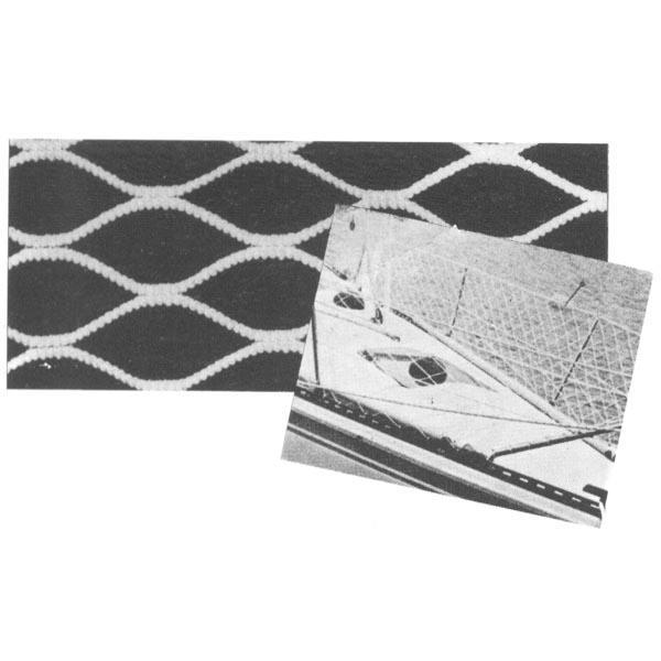 Red de Seguridad TREM balcon de proa, sin nudo, Malla 20mm x 30m - Red sin nudo para bordas, fabricada en poliester blanco.   Altura: 40/60cm.   Malla: 20 mm.   Longitud: bolsa 30 mts.