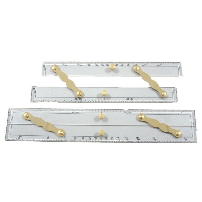 Reglas paralelas barras de latón pulido de 12  y 15 Pulgadas