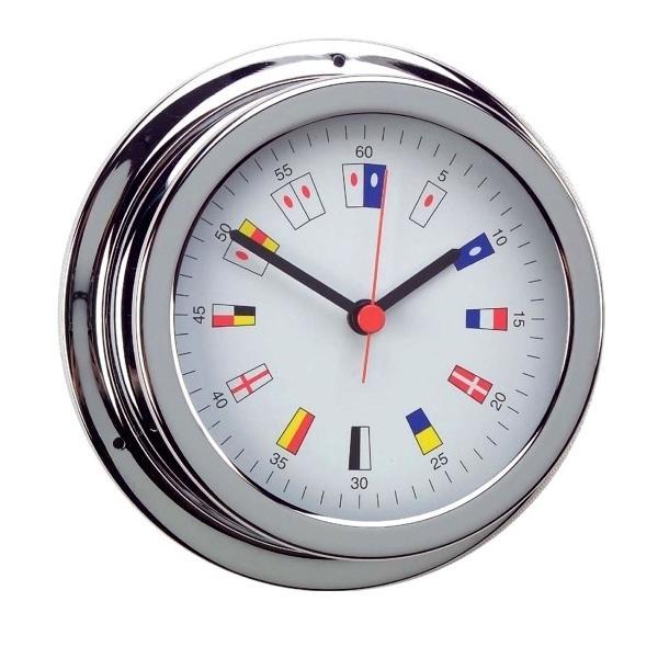 Reloj Cromado Numeros Nauticos. Esfera 120 mm
