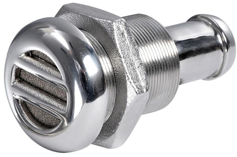 Respiradero combustible acero inoxidable AISI 316, con sistema anti-inundacion - Ventilación de combustible de acero inoxidable AISI 316 pulido espejo, equipado con sistema anti-inundación