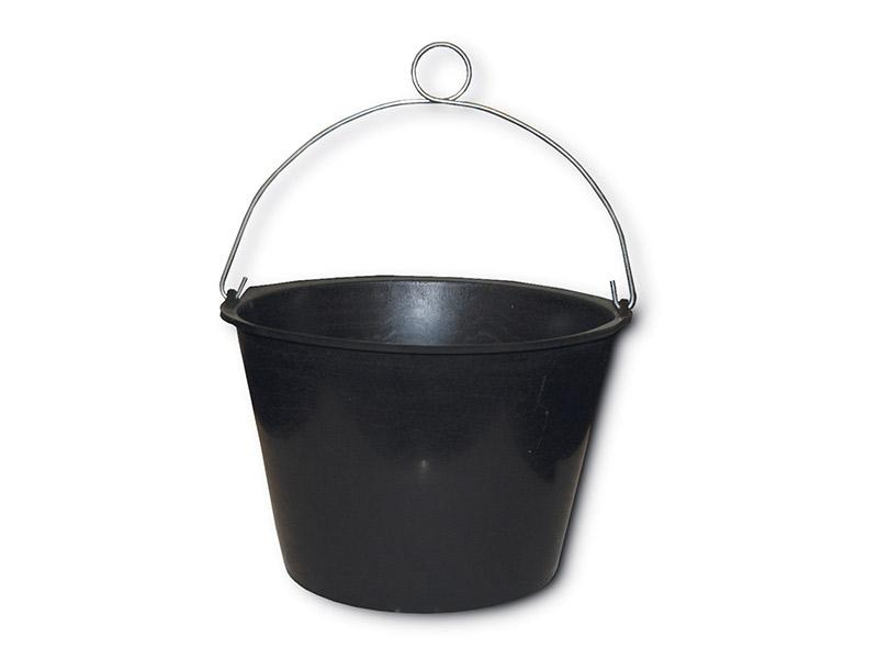 Cubo Balde de plastico - Cubo de plastico y asa con ojillo. Disponible con o sin cabo.  Capacidad 9L