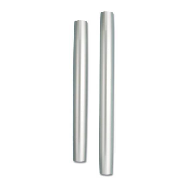 Pie de Mesa Aluminio Anodizado Mate de 60 o 70 cm - Tubosoportecónico de aluminioanodizadomate, parabases sin rosca.