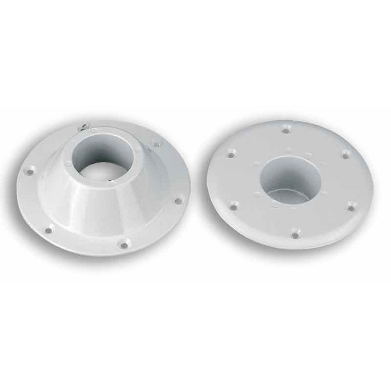 Bases para Pie de Mesa, sin rosca - Soportesdealuminioblancoanodizado,parapie de mesa sin rosca.