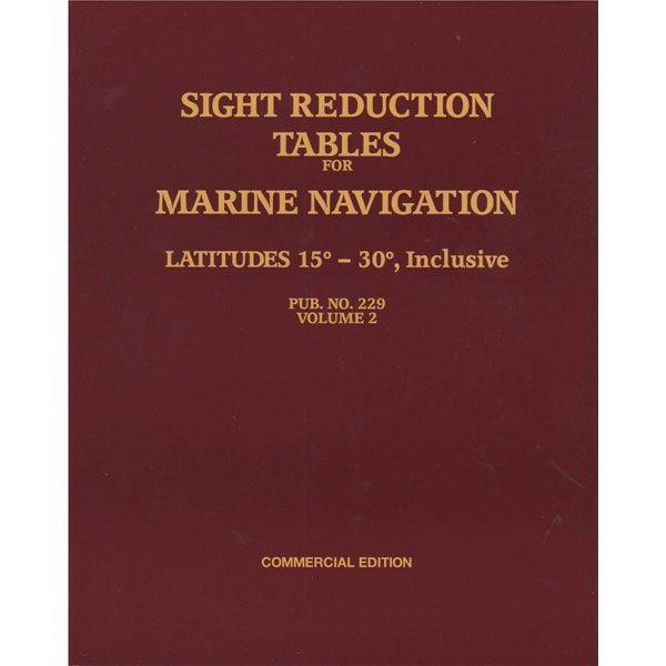 Sight Reduction Tables HO-229 Marine Navigation Volume II Latitudes 15-30