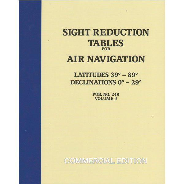 Sight Reduction Tables HO-249 Air Navigation Volume 3 Latitudes 39-89