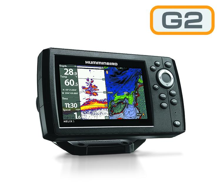 Humminbird Helix 5 - Sonda CHIRP GPS G2