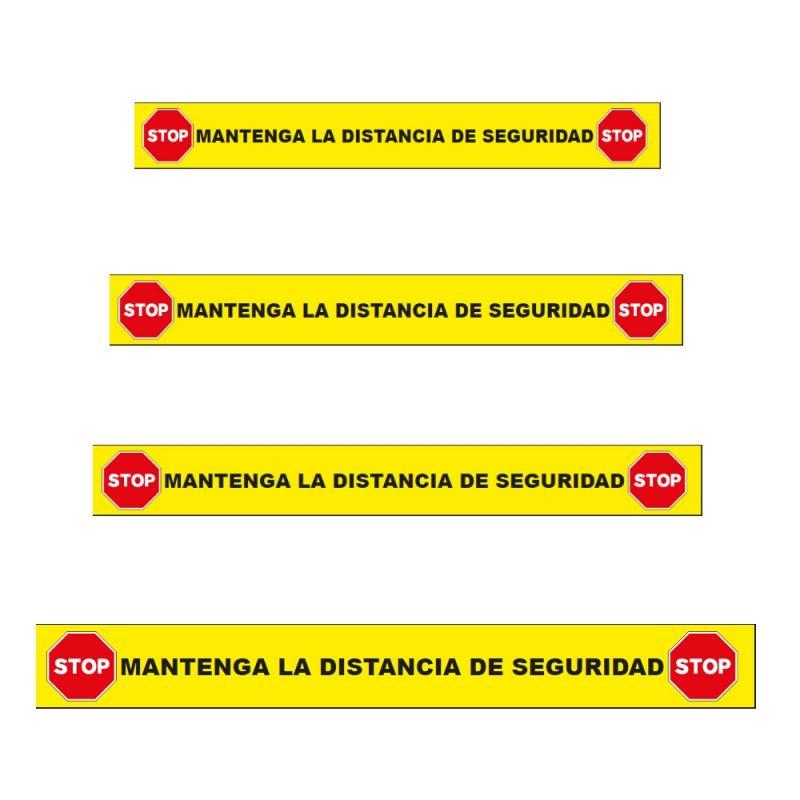 Vinilo Adhesivo Suelo - STOP Mantenga la Distancia de Seguridad