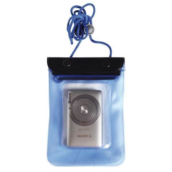 Funda estanca impermeable para camara, telefono movil o GPS - Bolsa estanca de material plástico translucido soldado, diseñada para protegerla camarade fotos, el teléfono móvil o el GPS con doble sistema de cierre y cordón paracolgar.