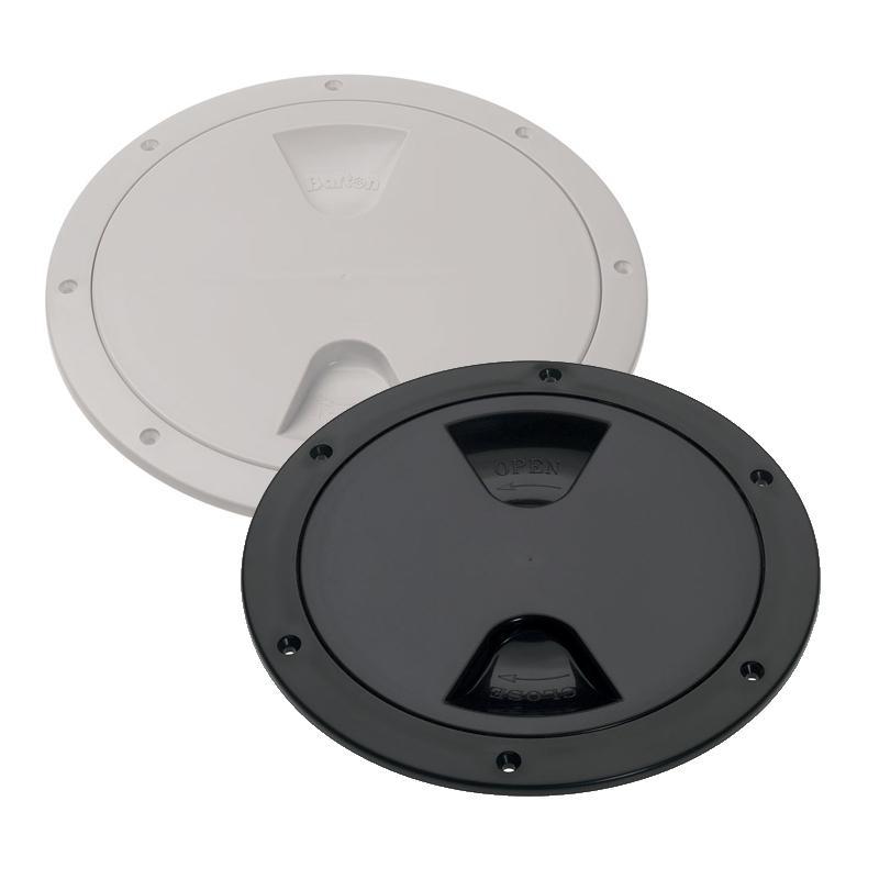 Registro Redondo de Nylon con Cierre de Rosca 203 mm Blanco o Negro