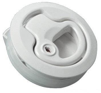 Tirador con cierre, nylon blanco, con cerradura