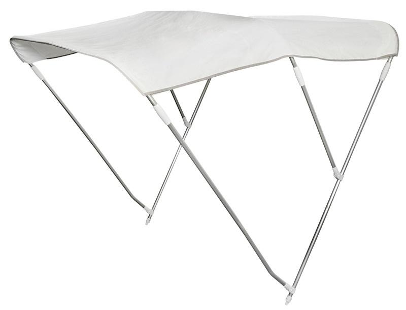 Toldo bimini plegable de 3 arcos color Blanco