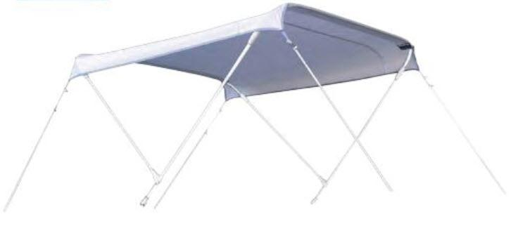 Toldo 3 Arcos Aluminio ProSea Alto 110 cm. Largo 180 cm. - Toldo de Aluminio con armazón de 3 arcos plegable. Color Blanco. 4 Medidas de Ancho