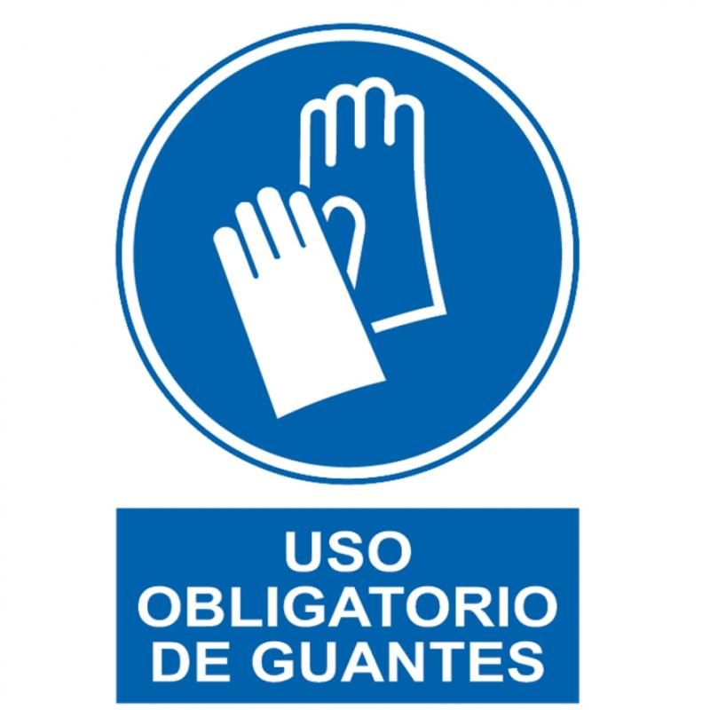 Panel PVC - Uso Obligatorio de Guantes