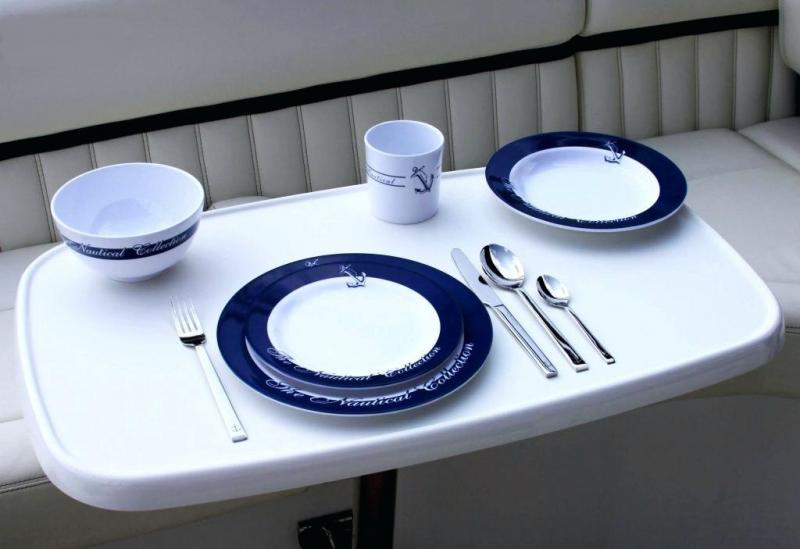 Vajilla Welcome on Board - Venta por piezas. Platos de cocina, cuencos y tazas de melamina, Colección náutica