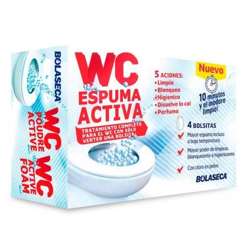 WC Espuma Activa Bolaseca - Tratamiento completo para el WC con sólo verter una bolsita!. 5 ACCIONES: Limpia, Blanquea, Higieniza, Disuelve la cal, Perfuma