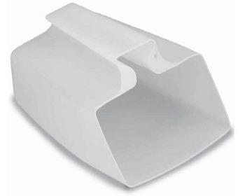 Achicador de Plastico Antichoque Color Blanco