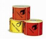 Etiqueta de Señalización IMDG para cargas individuales - Etiqueta de señalización para mercancias peligrosas..   Material polipropileno Autoadhesivas de 100x100 mm para cargas individuales