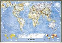 Mapamundi politico National Geographic 100x70 cm - Mapamundi Politico a Escala 1:42.775.000