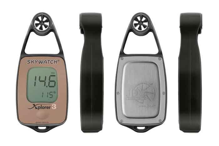 24f93b12e Anemometro termometro digital Xplorer 3 con compas - Anemómetro digital de  mano con temperatura y compás