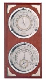 Estación Meteorológica Interior - Madera - Estación meteorológica para interior con barómetro y termo-higrómetro.