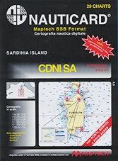 Cartografía digital Nauticard CDNISA - Cartas digitales relacionadas con Cerdeña, toda la costa de la isla y sus alrededores muy detallados, y el software para PC OFFSHORE NAVIGATOR LITE.