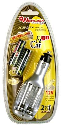 Cargador de Baterias Tipo AA /AAA x 2 unidades 12V - Cargador para 2 baterias tipo AA / AAA Ni-Cd / Ni-Mh.